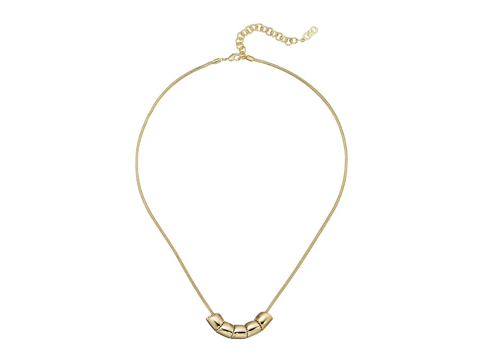 Cole Haan - 16 Rondelle Necklace (Gold) Necklace