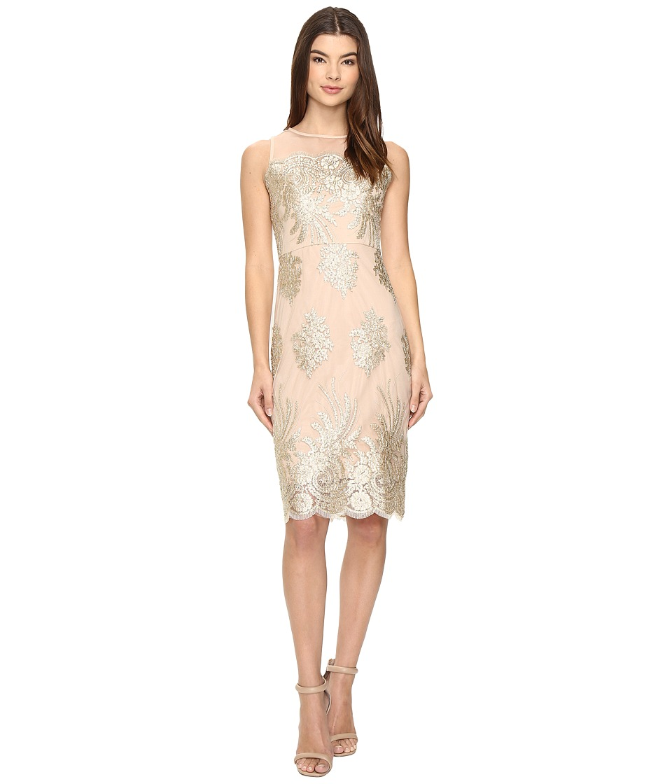 rsvp - Arlington Dress (Gold/Nude) Women's Dress
