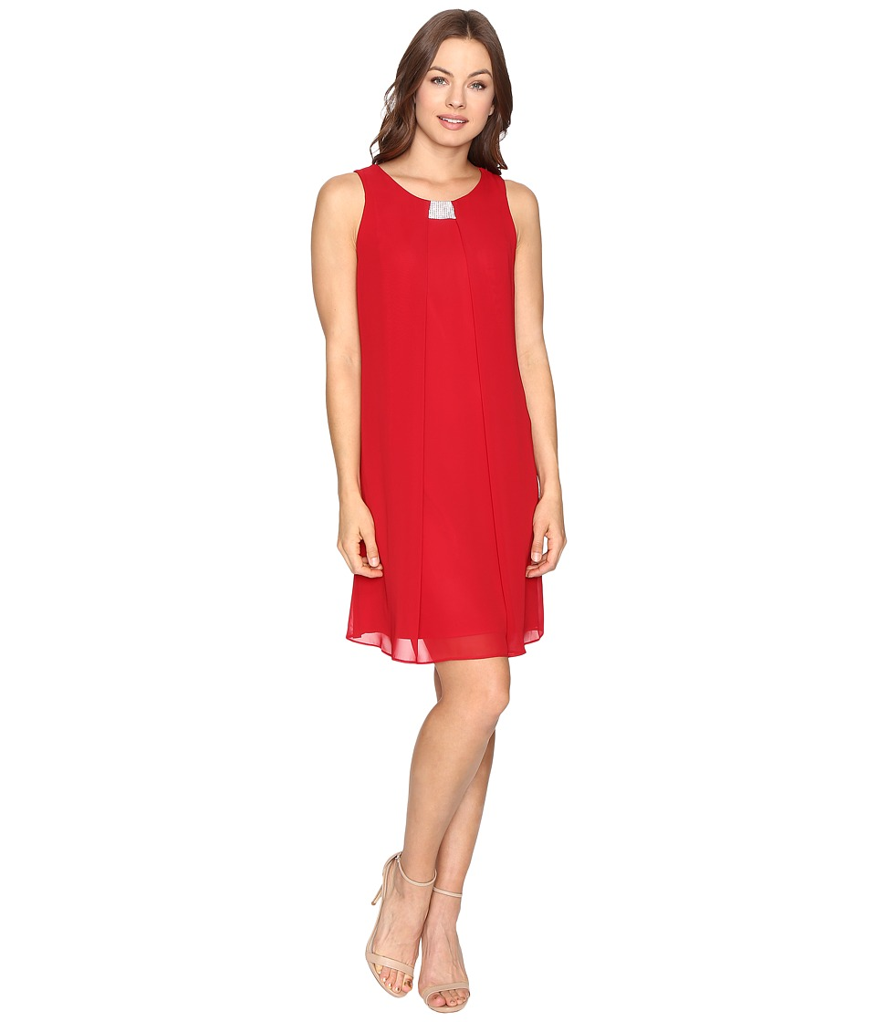 Christin Michaels - Garland Sleeveless Dress (Red) Women's Dress
