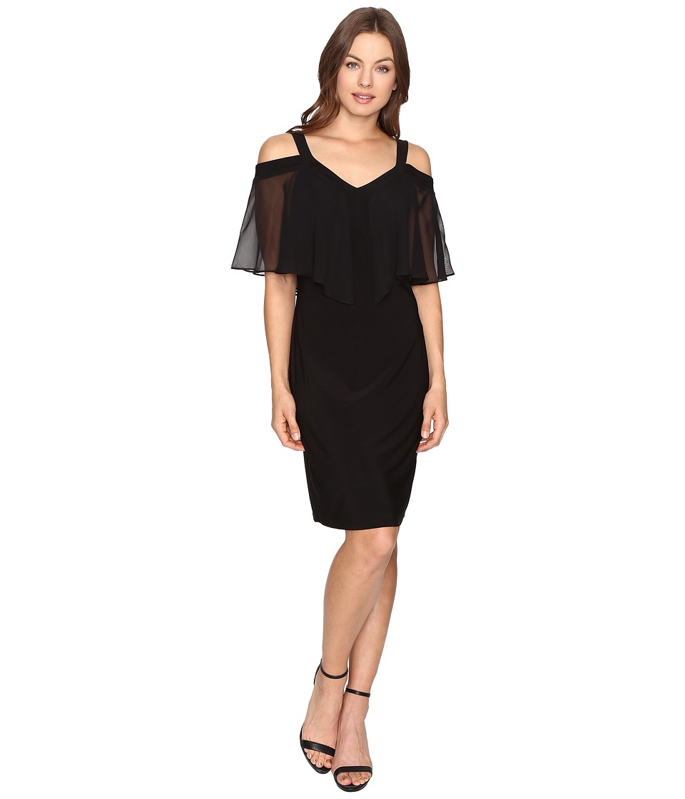 Christin Michaels - Gibson Cold Shoulder Dress (Black) Women's Dress