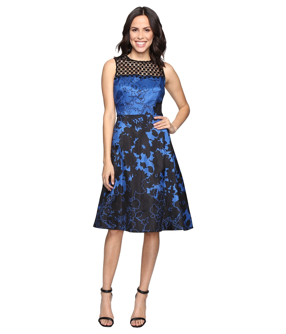 rsvp - Ardmore Dress (Black/Blue) Women's Dress