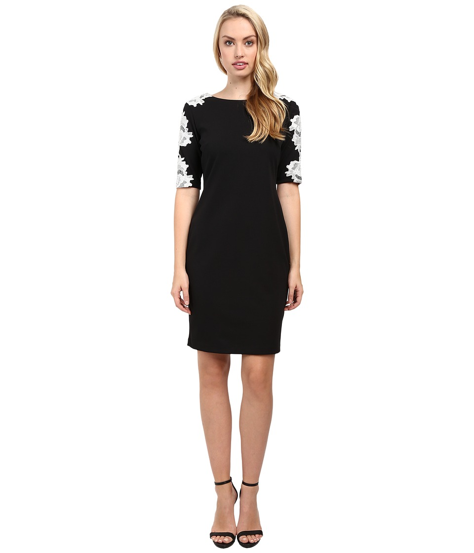 rsvp - Lynnville Raglan Dress (Black/Ivory) Women's Dress