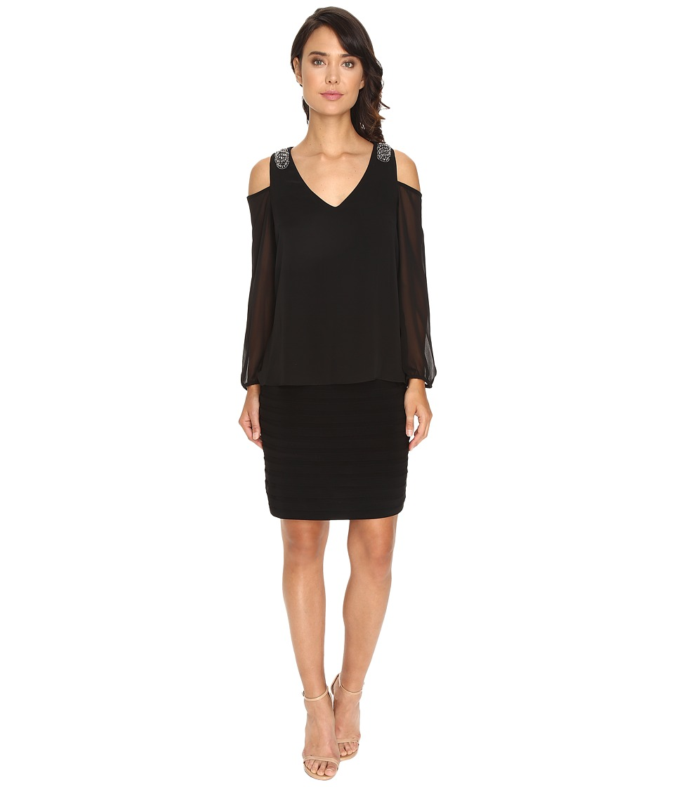 rsvp Bradford Cold Shoulder Dress (Black) Women