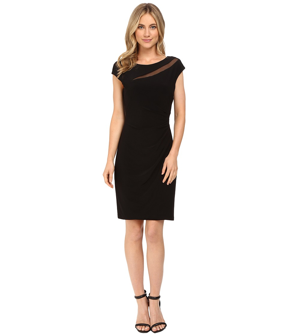 rsvp - Darling Sheer Cut Out Dress (Black) Women's Dress