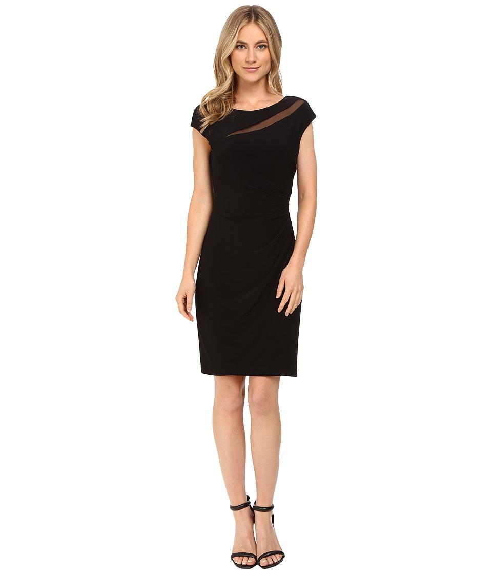 rsvp - Darling Sheer Cut Out Dress (Black) Women's Dress