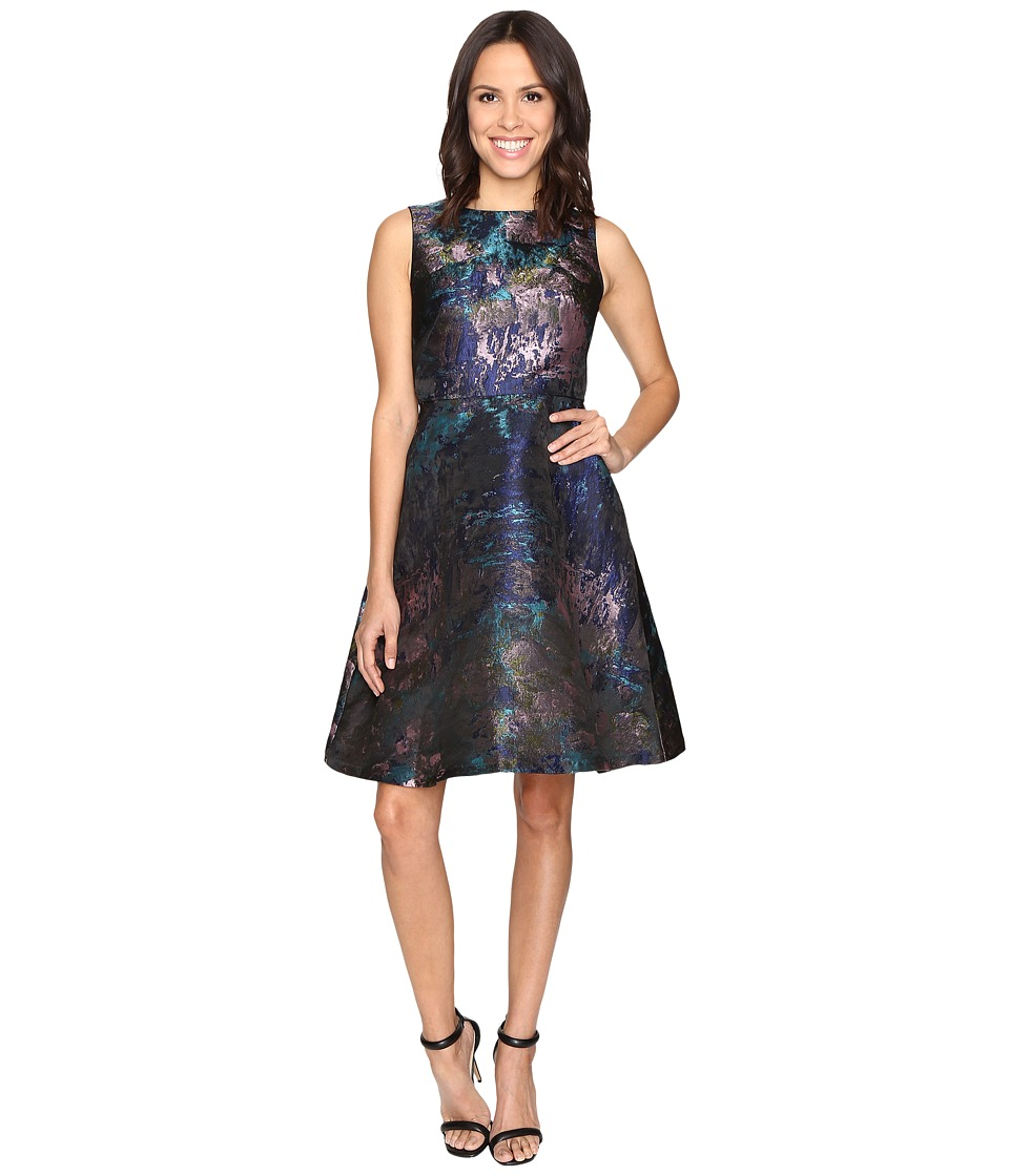 rsvp - Minnie Sleeveless Fit and Flare (Blue Multi) Women's Dress