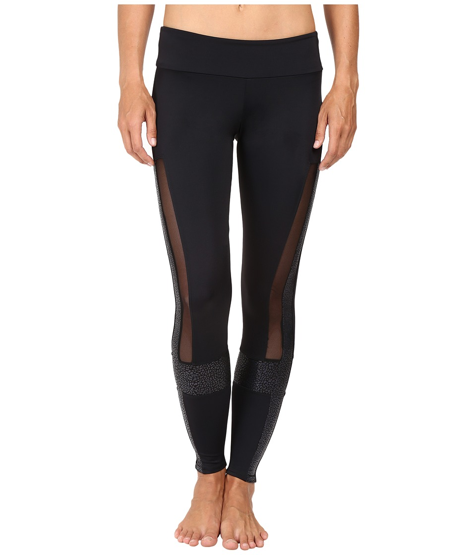 Onzie - Power Leggings (Black/Pebbles/Mesh) Women's Casual Pants