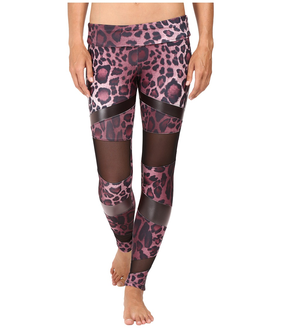 Onzie - Bondage Leggings (Purple Cheetah Combo) Women's Casual Pants