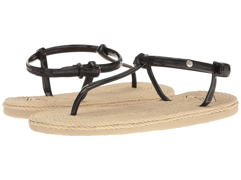 Roxy - South Beach T-Strap (Black) Women's Sandals