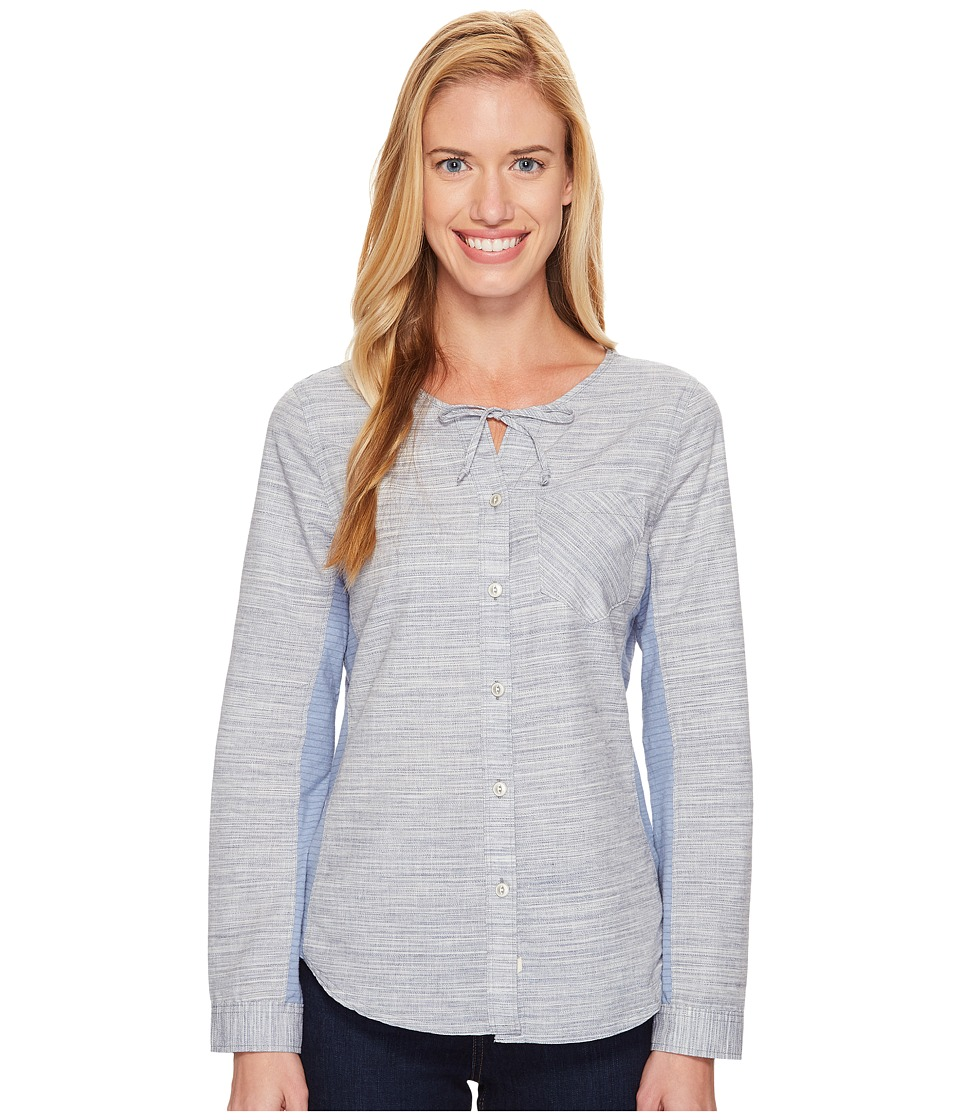 Woolrich - Outside Air Eco Rich Shirt (New Royal Blue) Women's Long Sleeve Button Up