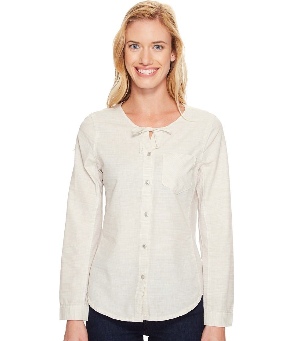 Woolrich - Outside Air Eco Rich Shirt (Silver Gray) Women's Long Sleeve Button Up