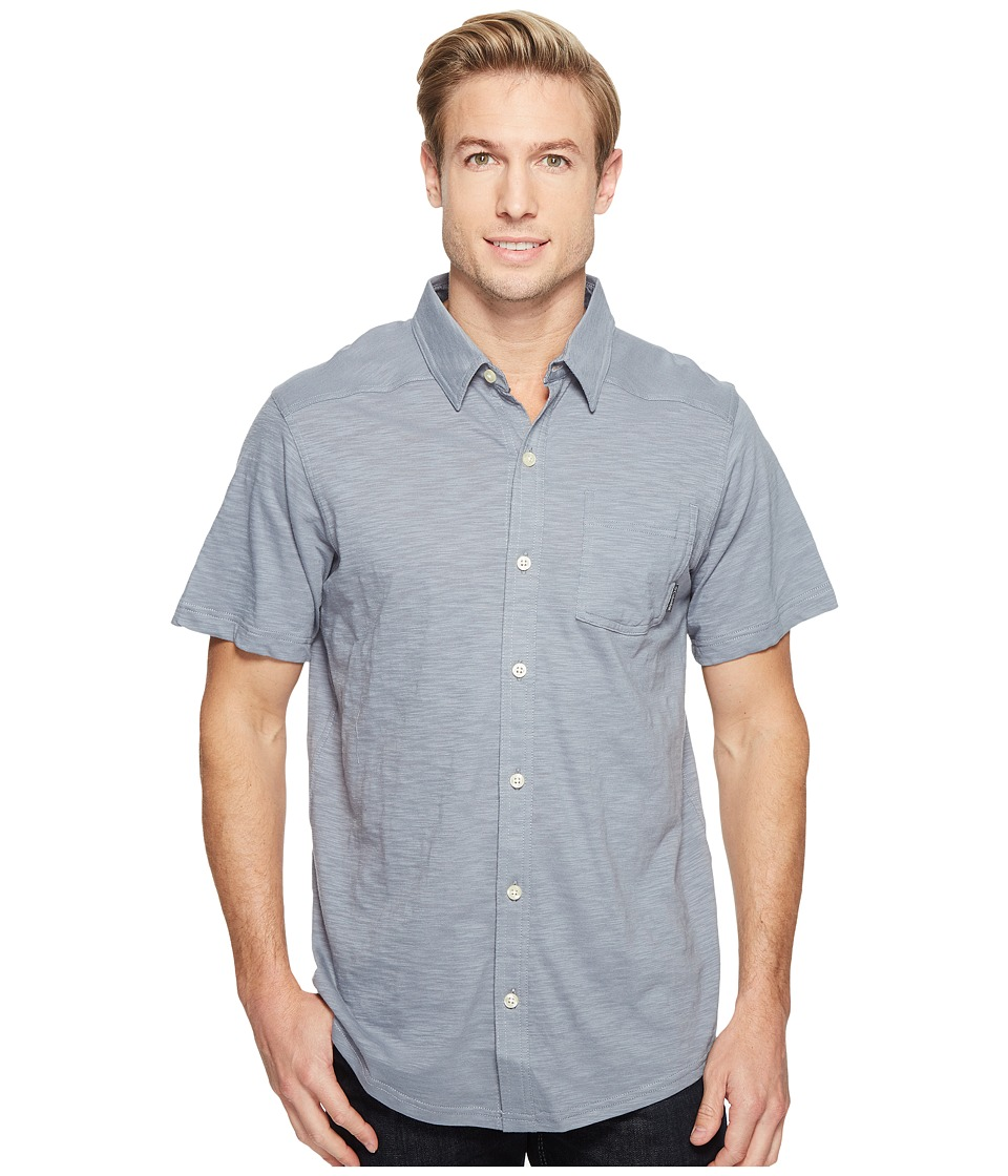 Columbia - Lookout Pointtm Short Sleeve Knit Shirt (Grey Ash) Men's Short Sleeve Button Up