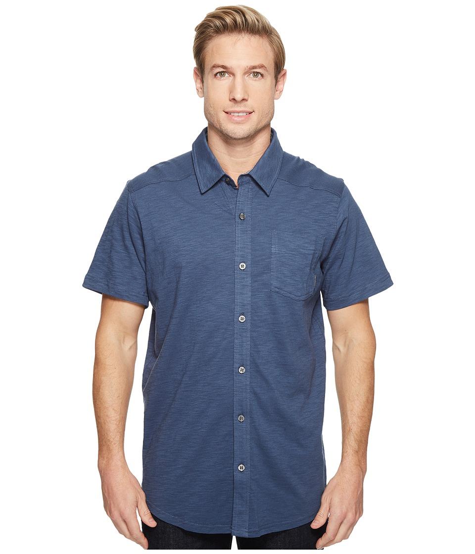 Columbia - Lookout Pointtm Short Sleeve Knit Shirt (Zinc) Men's Short Sleeve Button Up