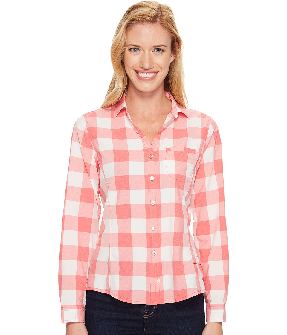 Woolrich - Day Pack Convertible Shirt (Teaberry Check) Women's Long Sleeve Button Up