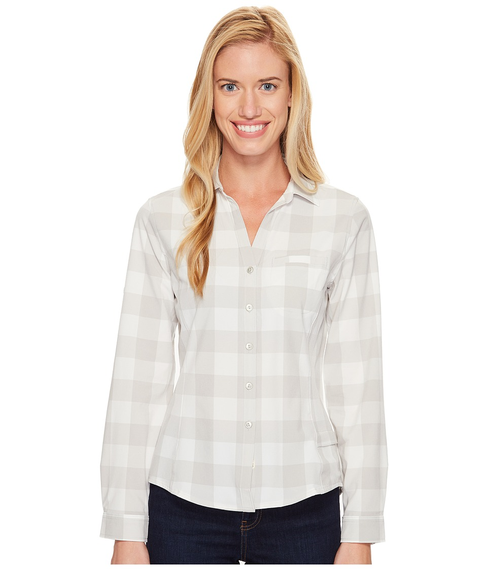 Woolrich - Day Pack Convertible Shirt (Vapor Blue Check) Women's Long Sleeve Button Up