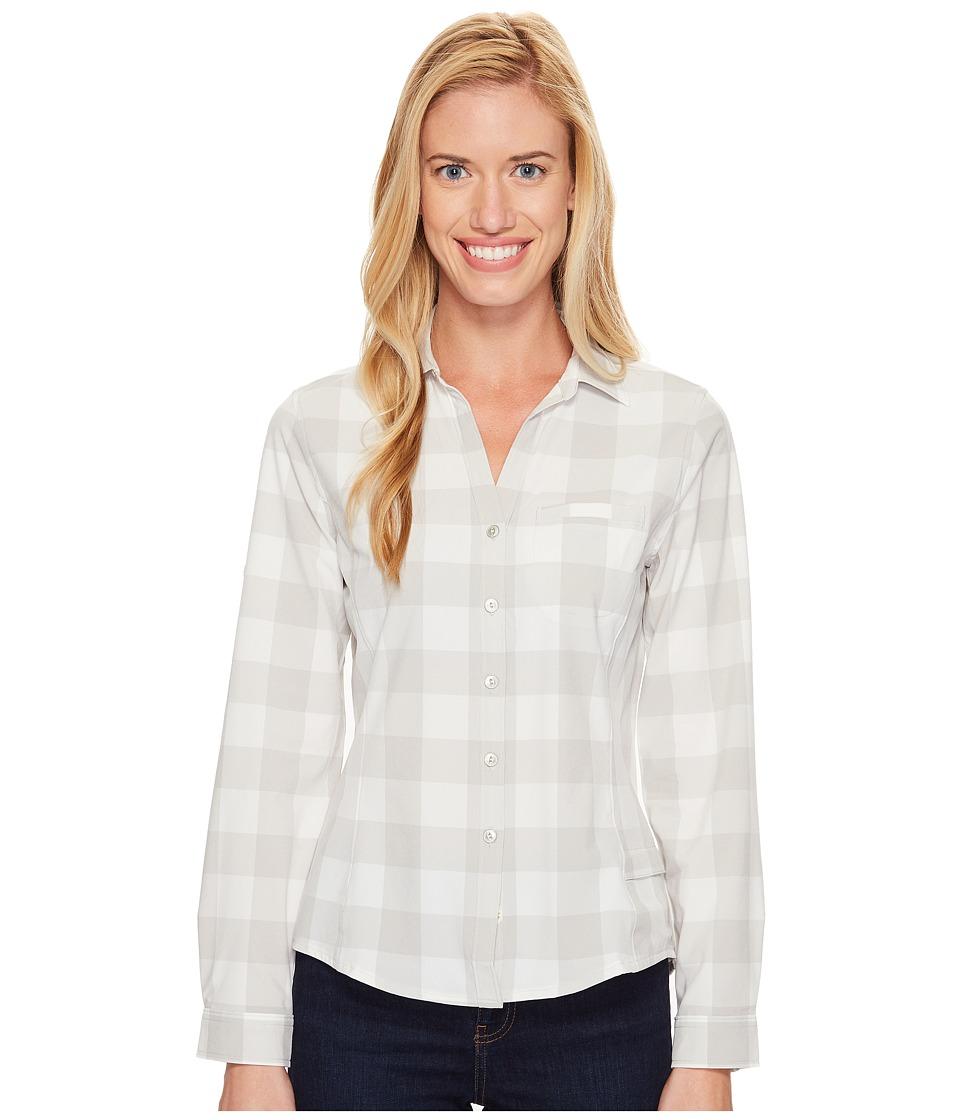 Woolrich - Day Pack Convertible Shirt (Vapor Blue Check) Women's Long Sleeve Button Up