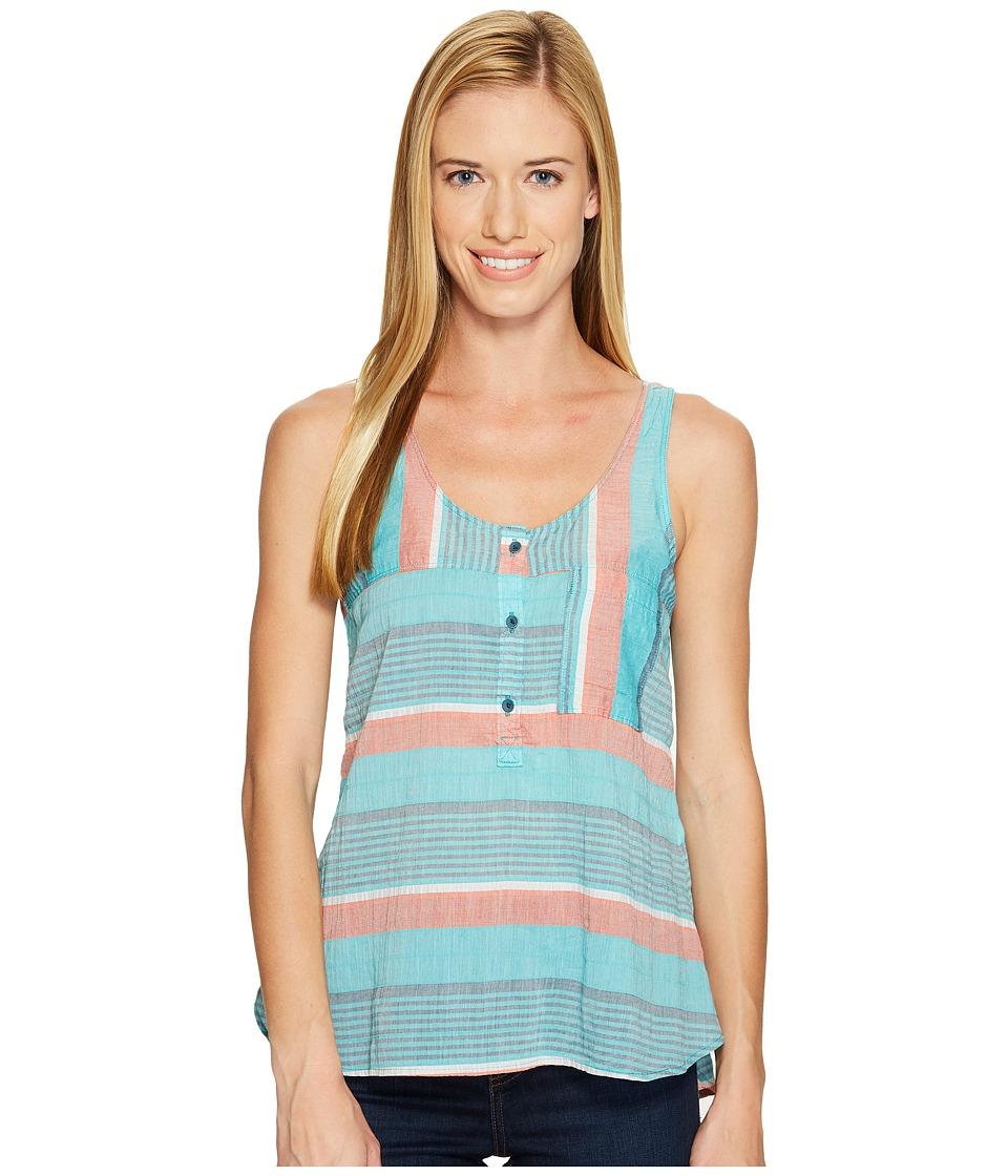 Woolrich - Spring Fever Eco Rich Tank Top (Aquamarine Stripe) Women's Sleeveless