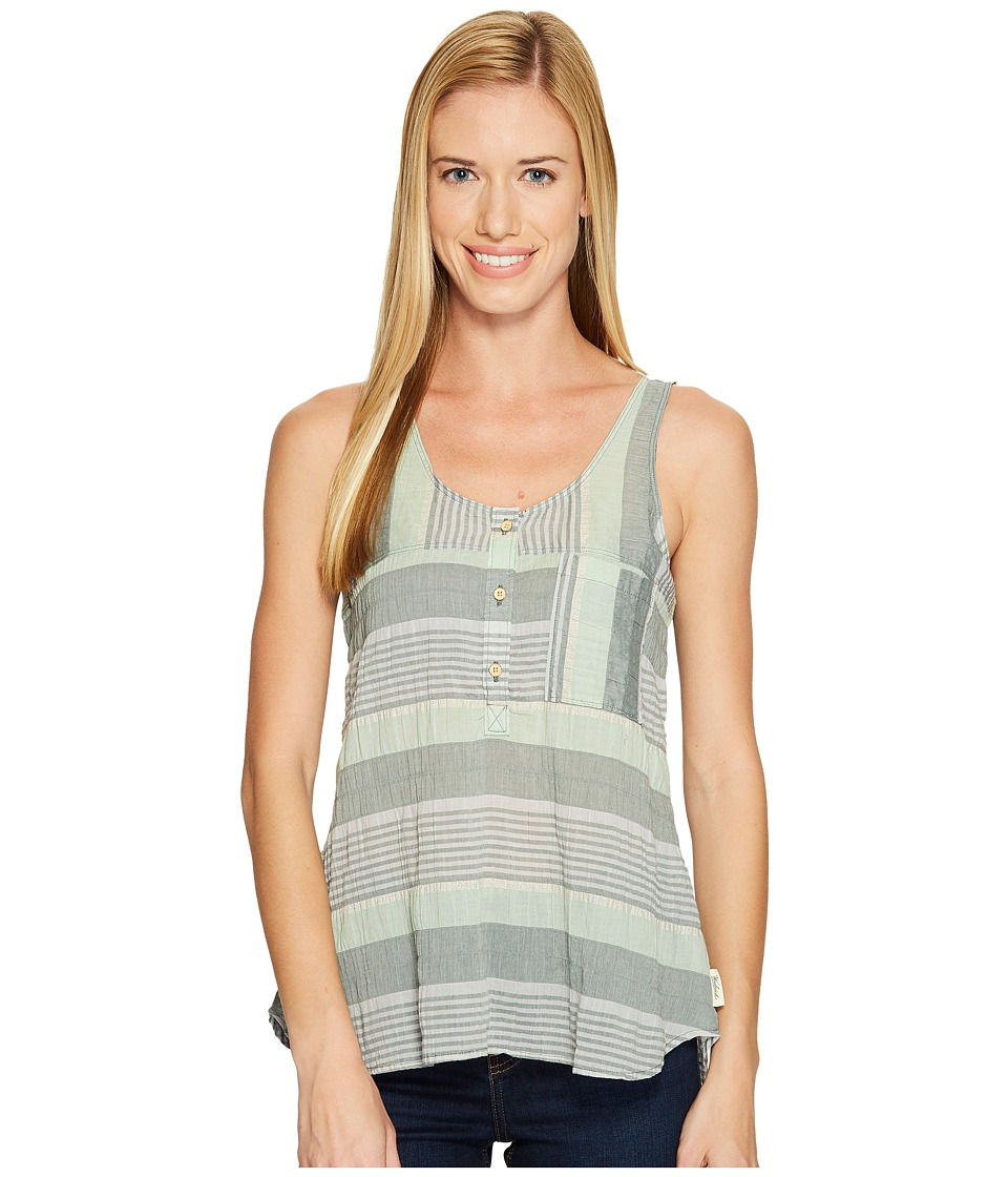 Woolrich - Spring Fever Eco Rich Tank Top (Balsam Green Stripe) Women's Sleeveless