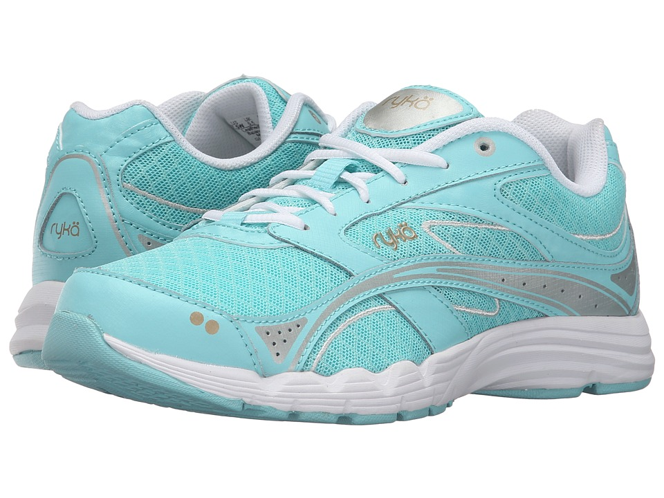 Ryka - Glide Walk (Aqua/White) Women's Lace up casual Shoes
