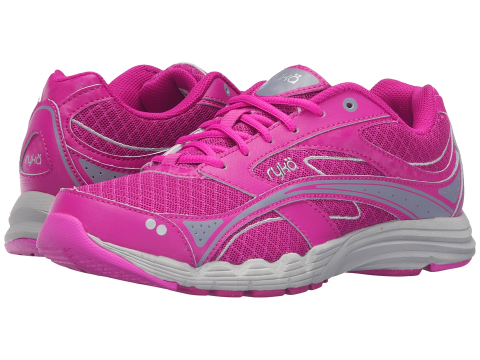 Ryka - Glide Walk (Pink/Silver) Women's Lace up casual Shoes