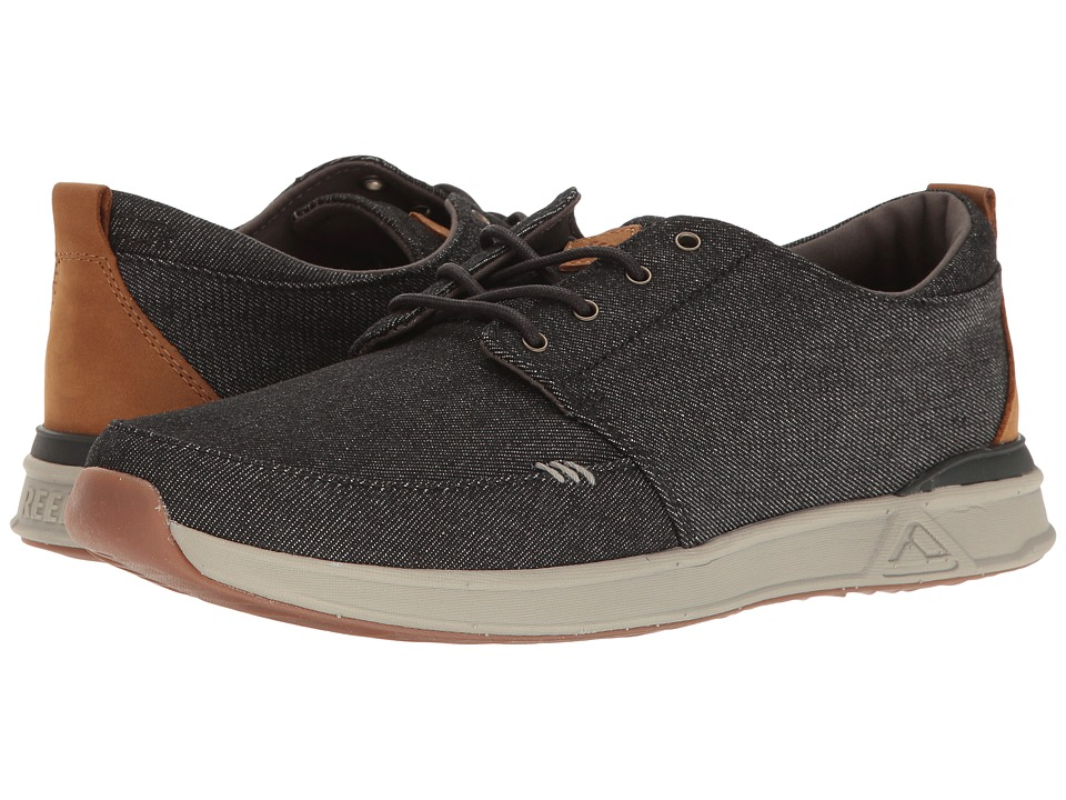 Reef - Rover Low TX (Black/Denim) Men's Shoes
