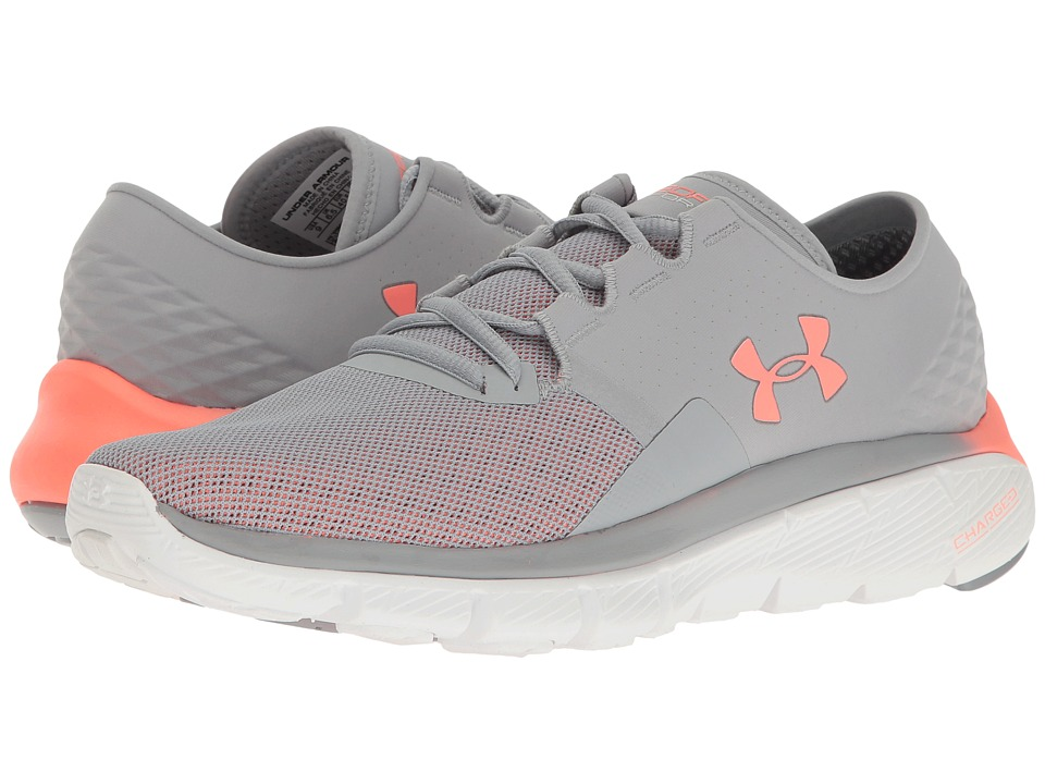 Under Armour - UA Speedform Fortis 2.1 (Overcast Gray/White/London Orange) Women's Running Shoes