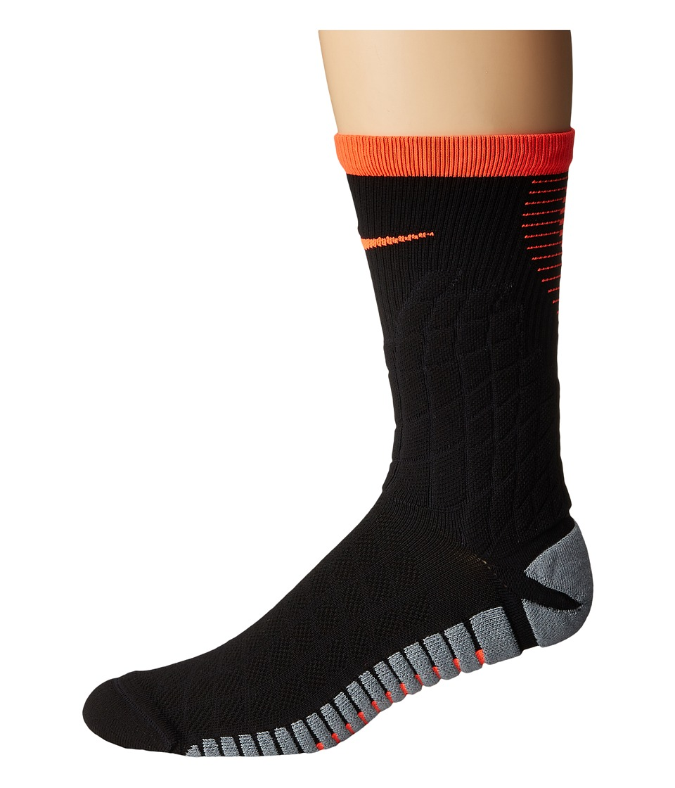 Nike Strike Hypervenom Crew Football Socks (Black/Total Crimson/Total Crimson) Crew Cut Socks Shoes