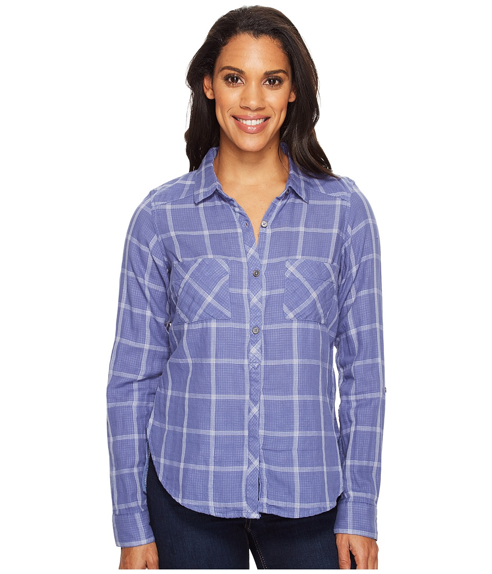 Columbia - Trail On Long Sleeve Shirt (Bluebell) Women's Long Sleeve Button Up
