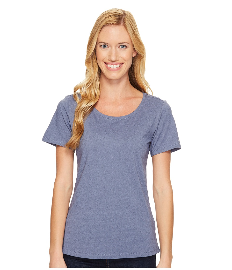 Columbia - Shadow Time III Tee (Bluebell) Women's Short Sleeve Pullover