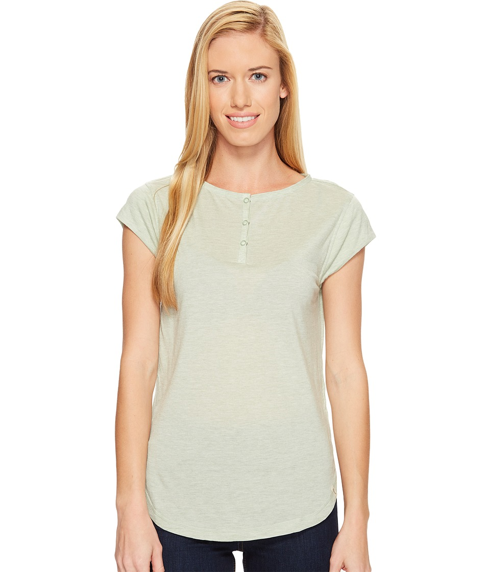 Woolrich - Park Rapids Eco Rich Henley Tee (Jade Heather) Women's T Shirt