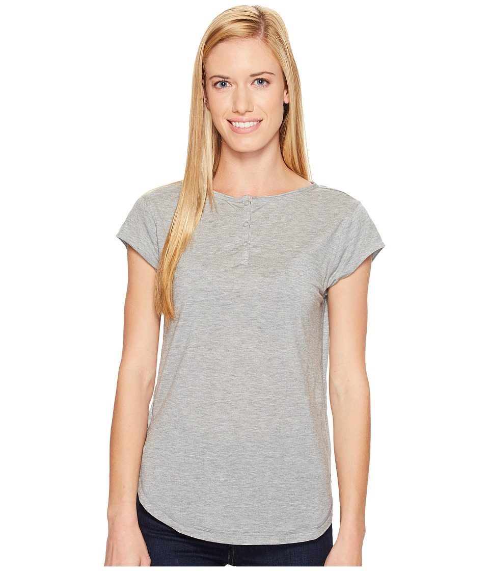 Woolrich - Park Rapids Eco Rich Henley Tee (Stoneware Heather) Women's T Shirt