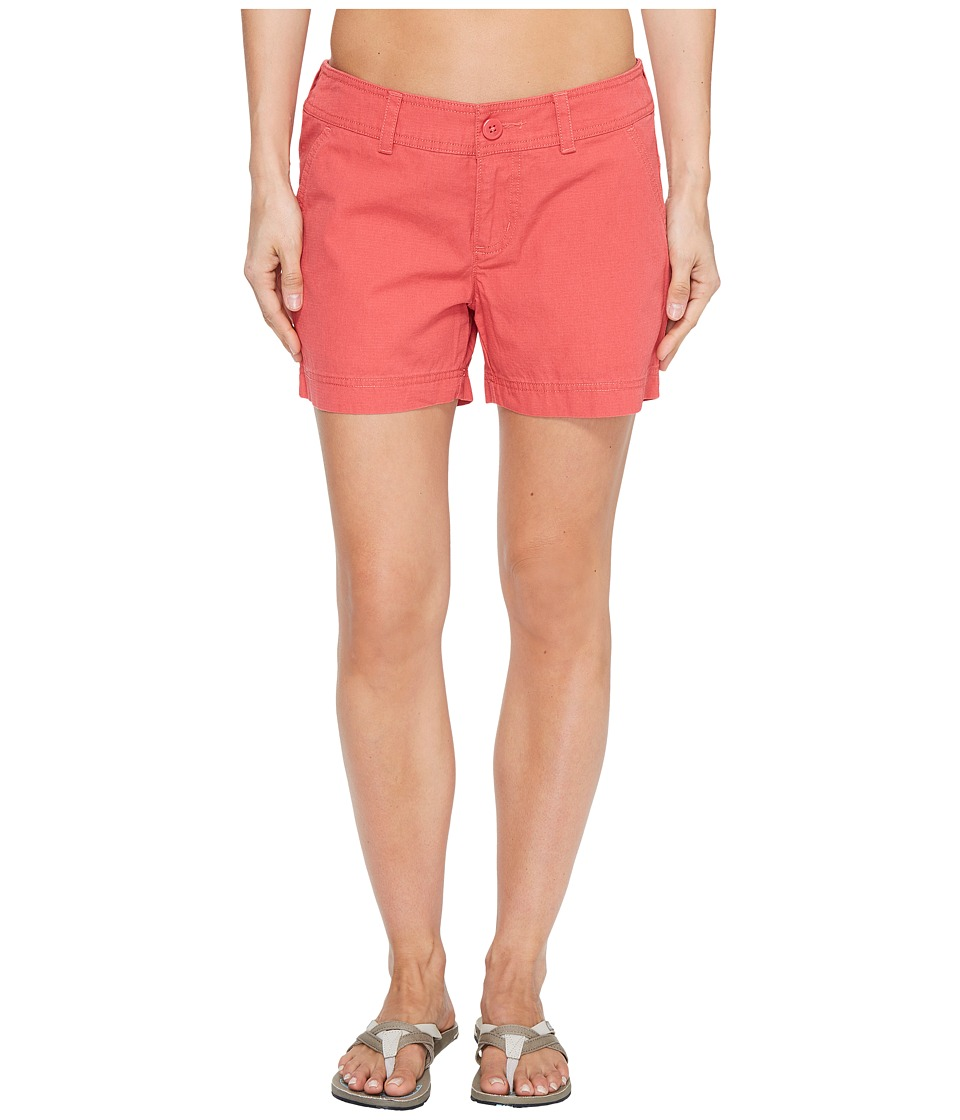 Columbia - Compass Ridge Shorts - 4 (Sunset Red) Women's Shorts