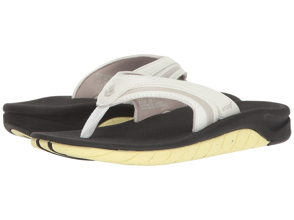Reef - Slap 3 (White/Lime) Women's Sandals
