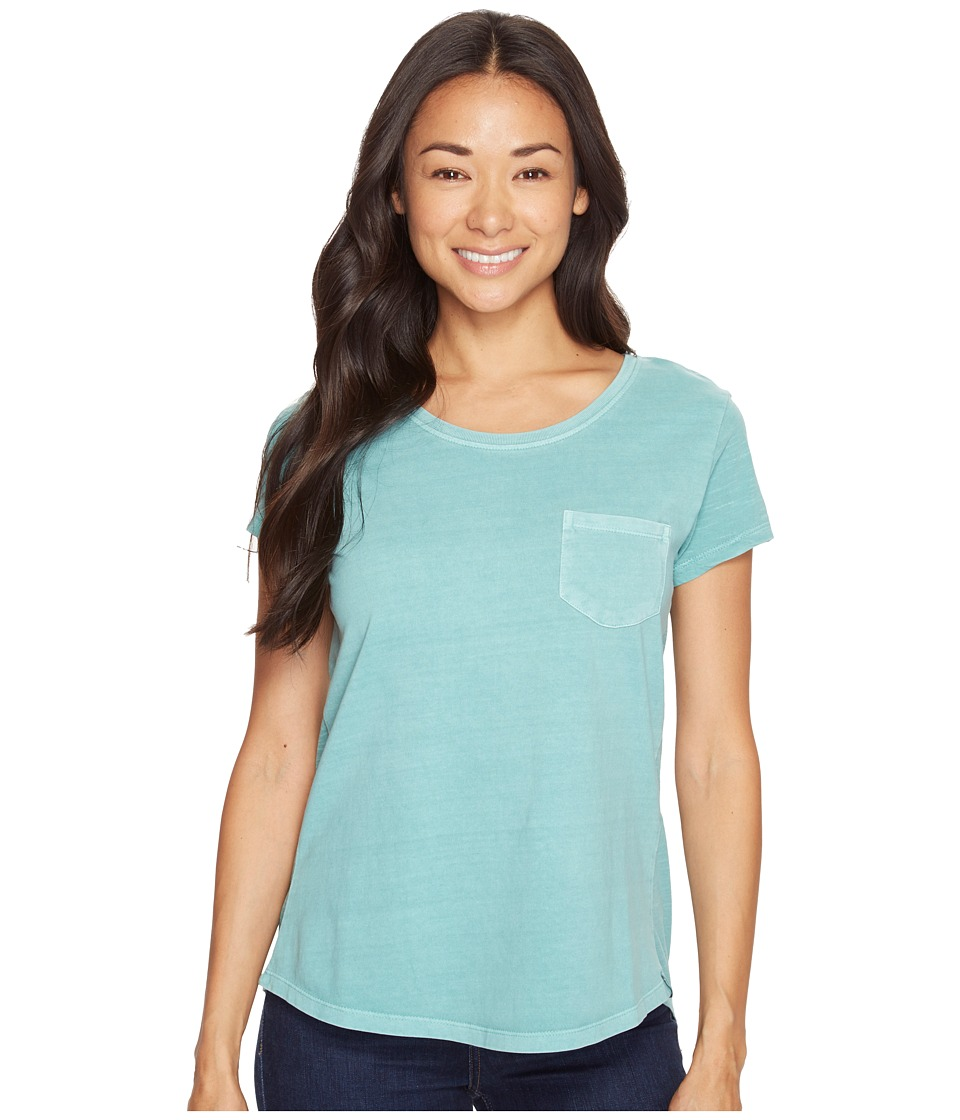 Woolrich - First Forks Short Sleeve Tee (Sky Blue) Women's T Shirt
