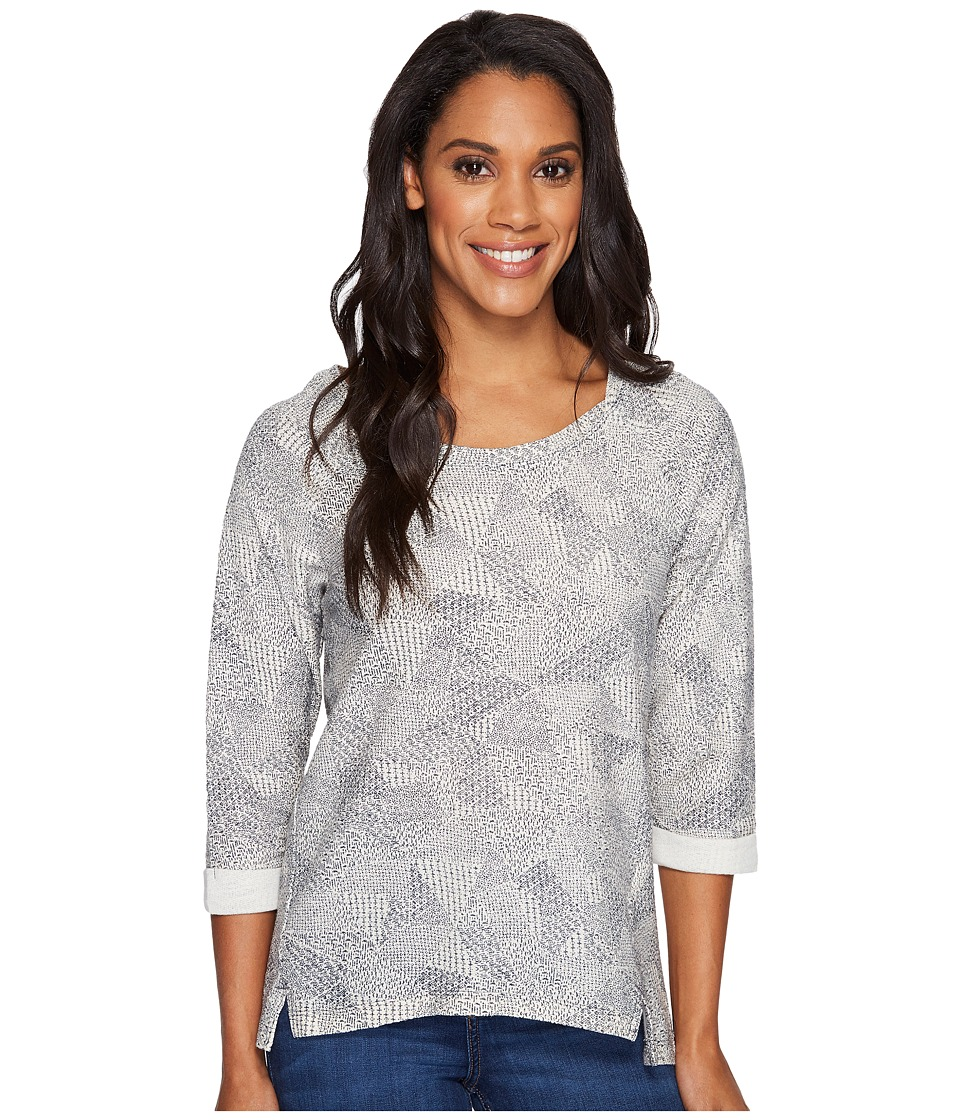 Columbia - Coastal Escape Printed Shirt (Flint Grey Heather) Women's Long Sleeve Pullover