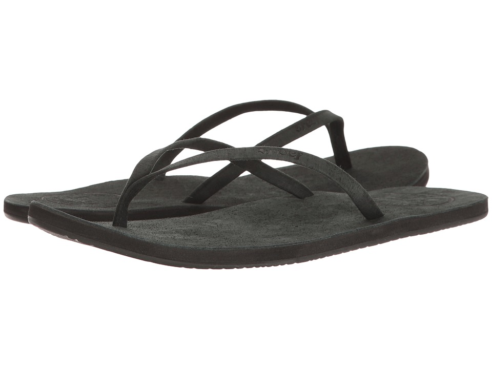Reef - Leather Uptown (Noir) Women's Sandals