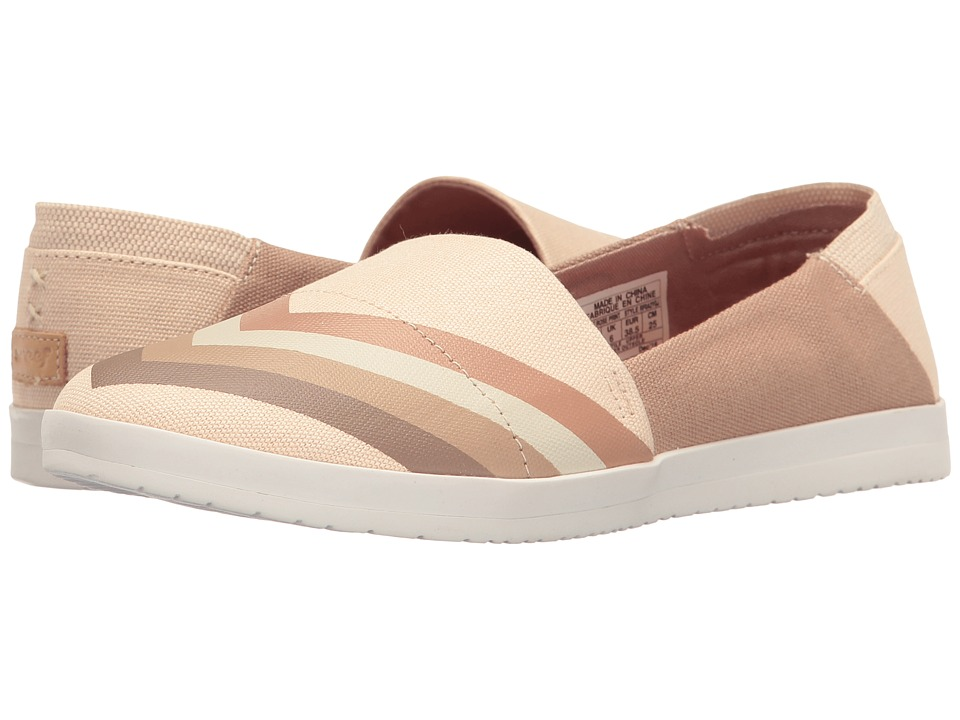 Reef - Rose Print (Brown/Rose) Women's Slip on Shoes