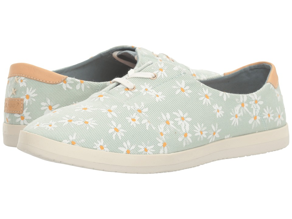 Reef - Pennington Print (Aqua Daisy) Women's Lace up casual Shoes
