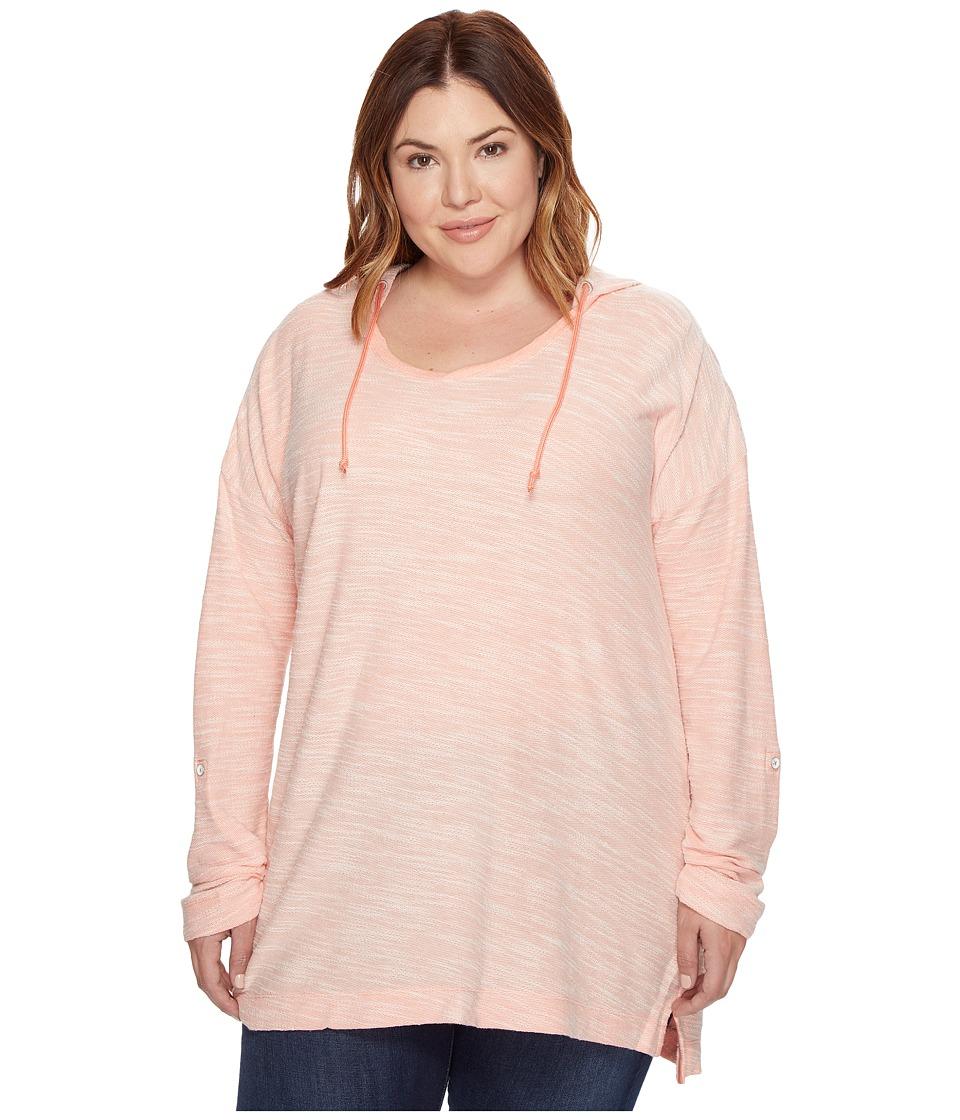 Columbia - Plus Size Coastal Escape Hoodie (Lychee Heather) Women's Sweatshirt