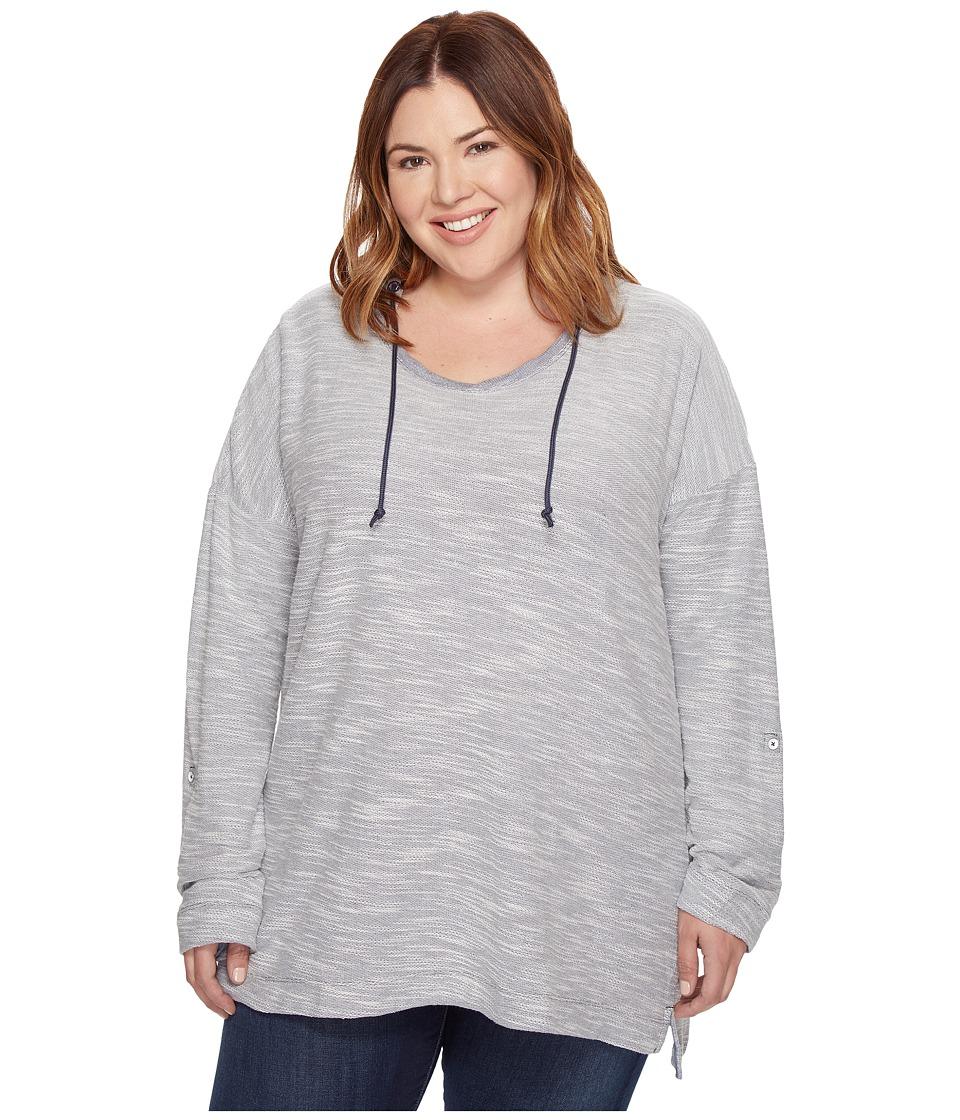 Columbia - Plus Size Coastal Escape Hoodie (Nocturnal Heather) Women's Sweatshirt
