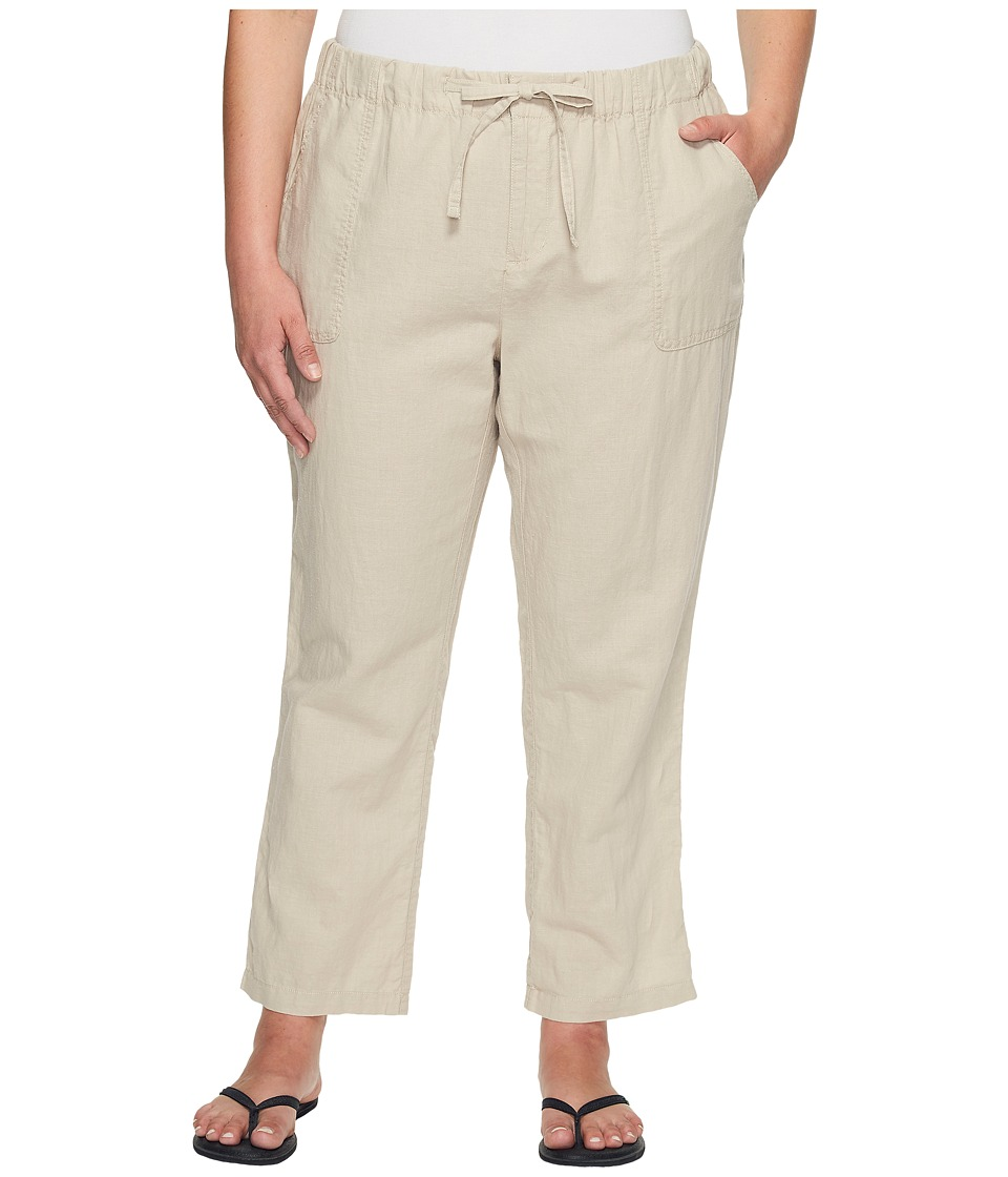 Columbia Plus Size Coastal Escape Capri Pants (Fossil) Women