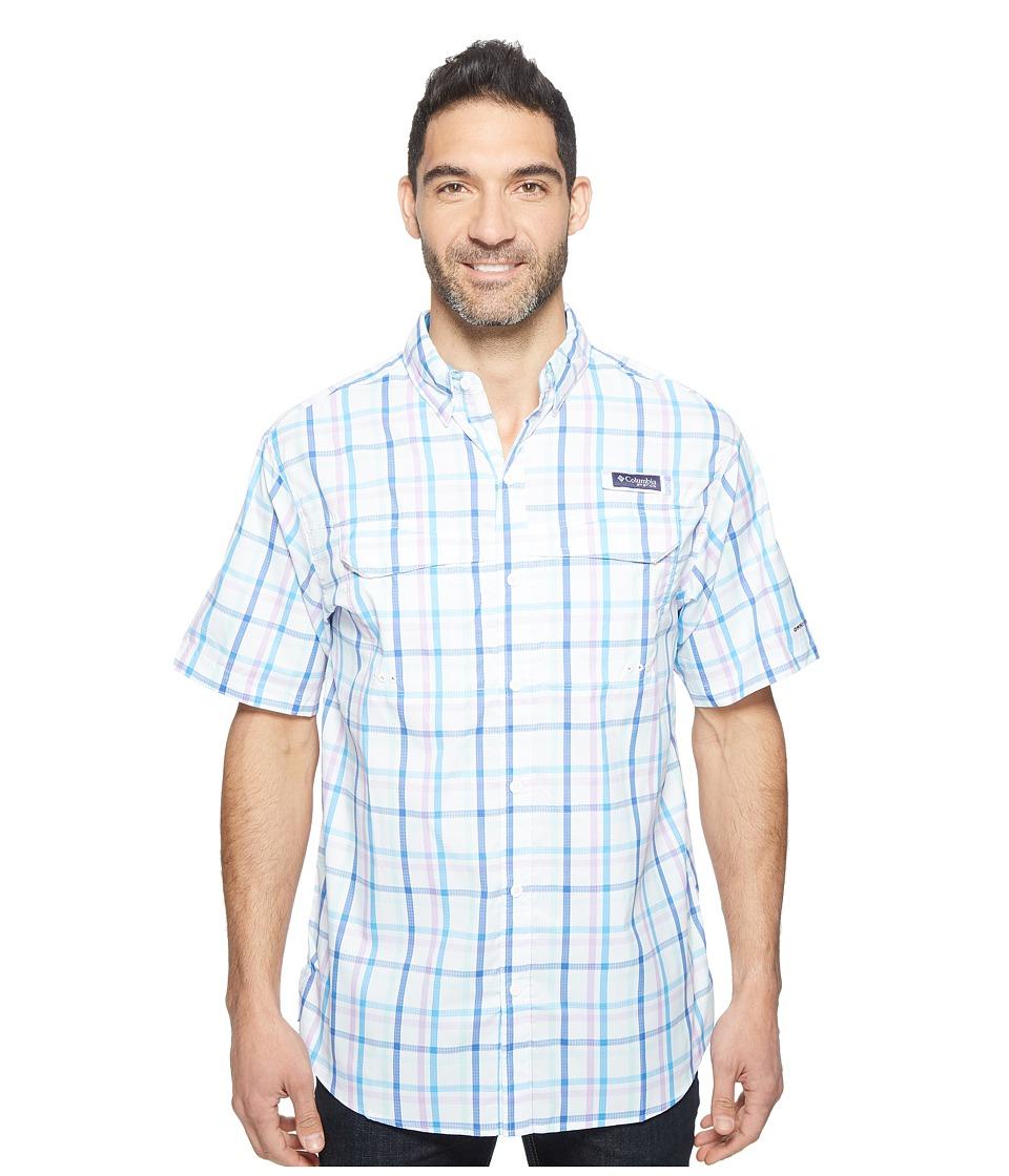 Columbia - Super Low Dragtm Short Sleeve Shirt (Yacht Open Check) Men's Short Sleeve Button Up