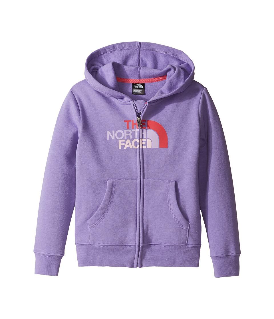 The North Face Kids - Logowear Full Zip Hoodie (Toddler) (Paisley Purple -Prior Season) Girl's T Shirt