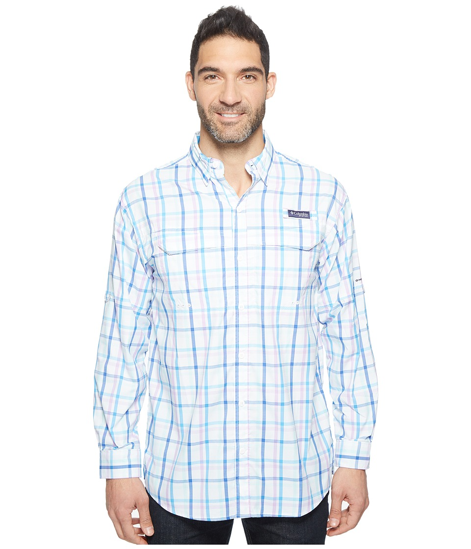 Columbia - Super Low Dragtm Long Sleeve Shirt (Yacht Open Check) Men's Long Sleeve Button Up