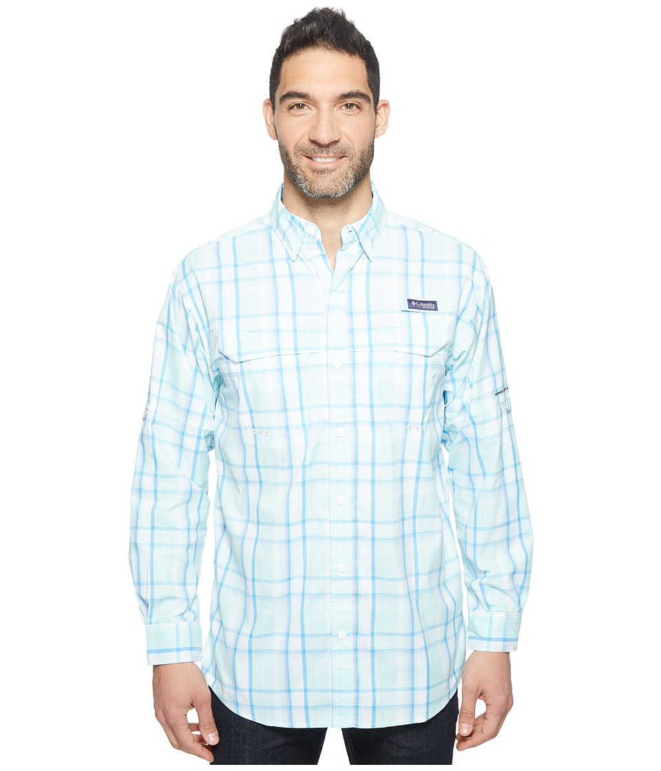 Columbia - Super Low Dragtm Long Sleeve Shirt (Wind Multi Plaid) Men's Long Sleeve Button Up