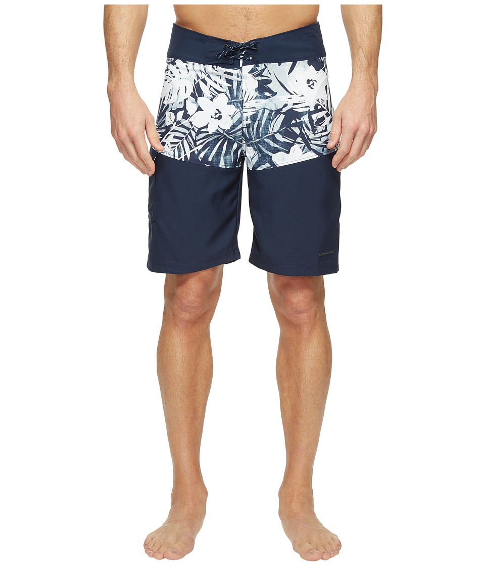 Columbia - Low Drag Board Shorts (Collegiate Navy Botanical) Men's Swimwear