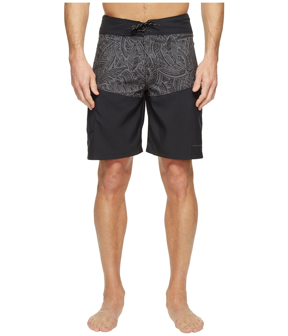 Columbia - Low Drag Board Shorts (Black Poly Tuna) Men's Swimwear