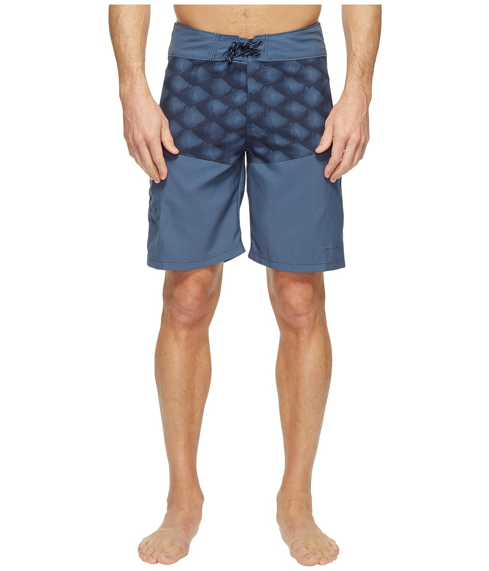 Columbia - Low Drag Board Shorts (Dark Moutain Tarpon Scales) Men's Swimwear
