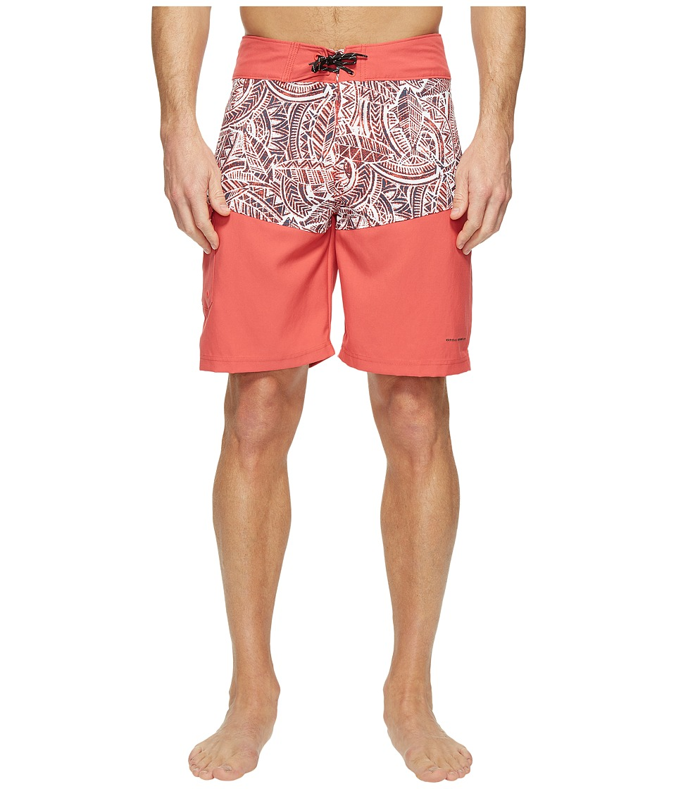 Columbia - Low Drag Board Shorts (Sunset Red Poly Tuna) Men's Swimwear