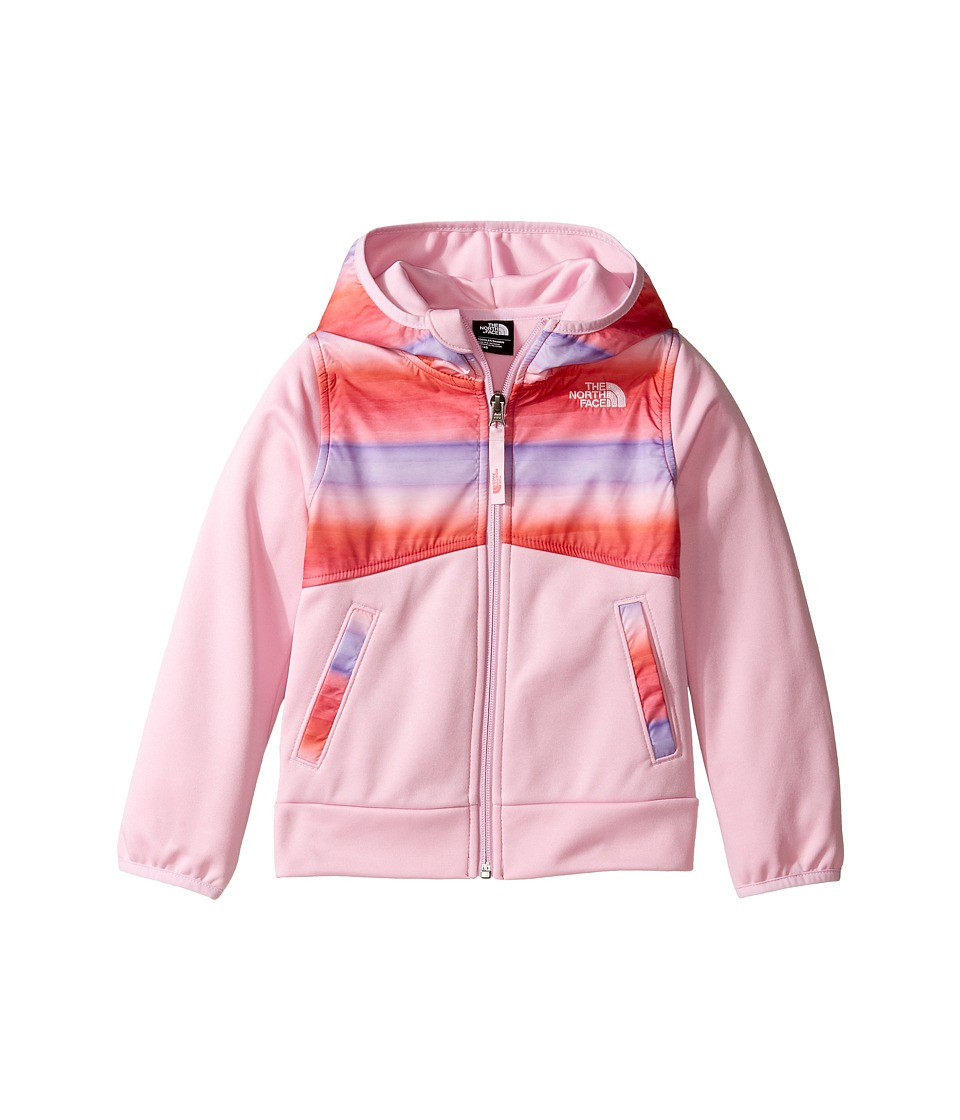 The North Face Kids - Kickin It Hoodie (Toddler) (Honeysuckle Pnk/Ombre Stripe Prnt/Lilac Sachet Pnk -Prior Season) Girl's Sweatshirt